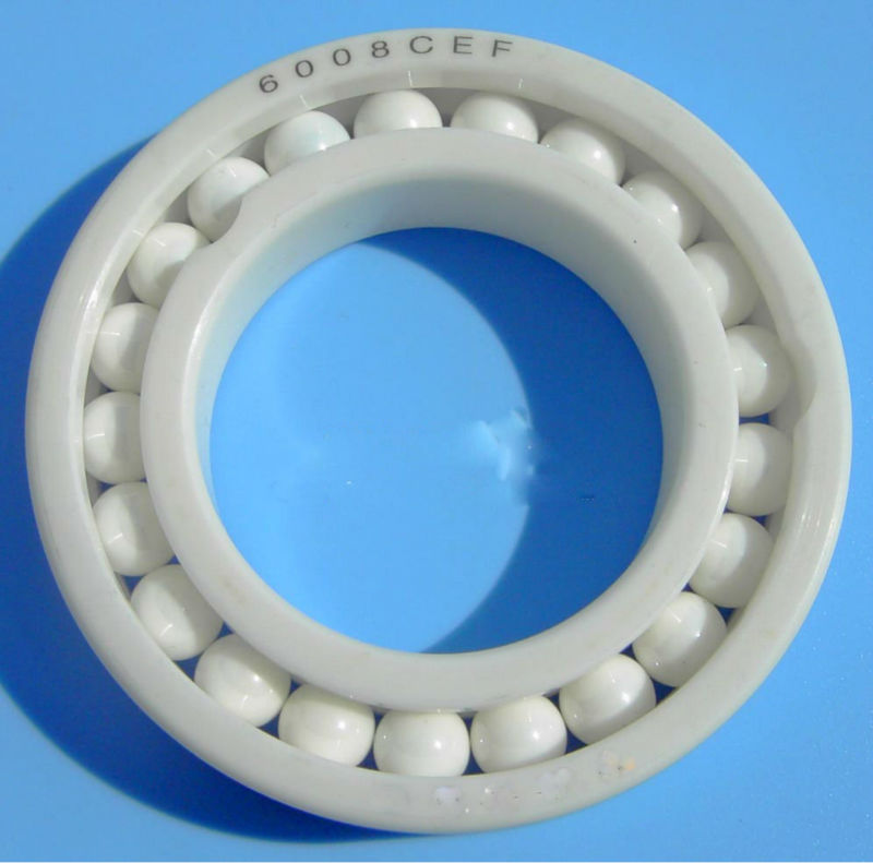 high temperature PEEK glastic open single row deep groove ball bearing 6008 price