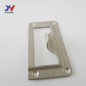 OEM ODM Custom metal satin charome T shape strike plate for door