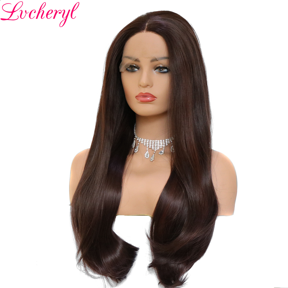 Inhair Cube Middle Part 22 Inches Ombre Long Wavy Heat Resistant Synthetic Kinky Simulation Scalp Cosplay For Women Synthetic None-lacewigs