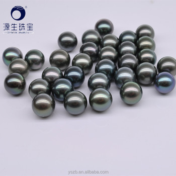 a1ce74f42 8-9mm high quality perfect round AAA tahitian black pearls natural loose pearl  beads