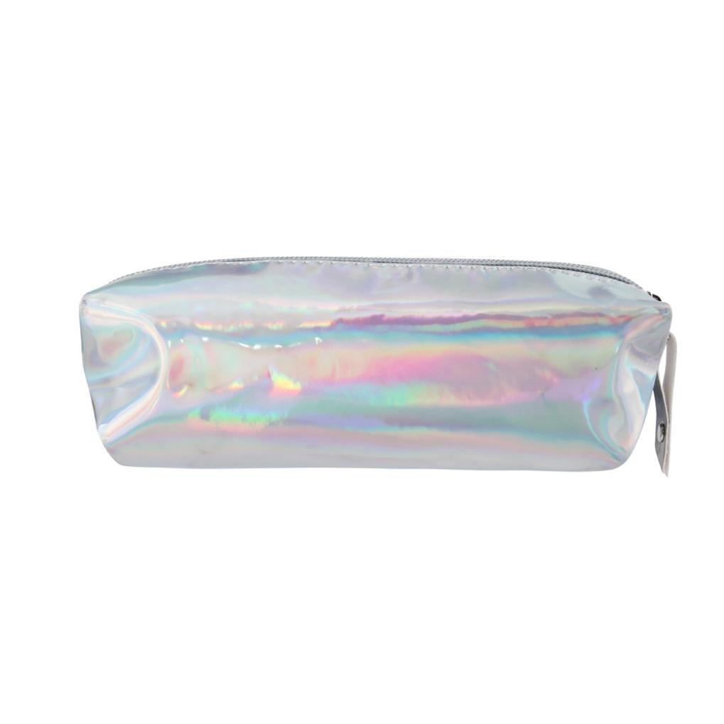 Superb Get Quotations · Creazy Fashion Hologram Pencil Case Pen Holder Makeup Boxes  Zipper Comestic Storage Bag (Silver)