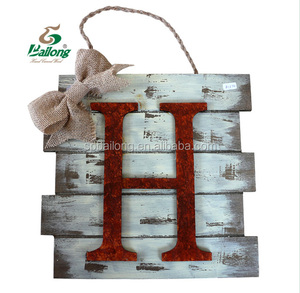 Customized vintage Wood craft letters wall mount art