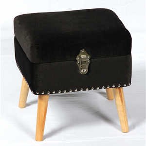 KD furniture wooden footrest with storage