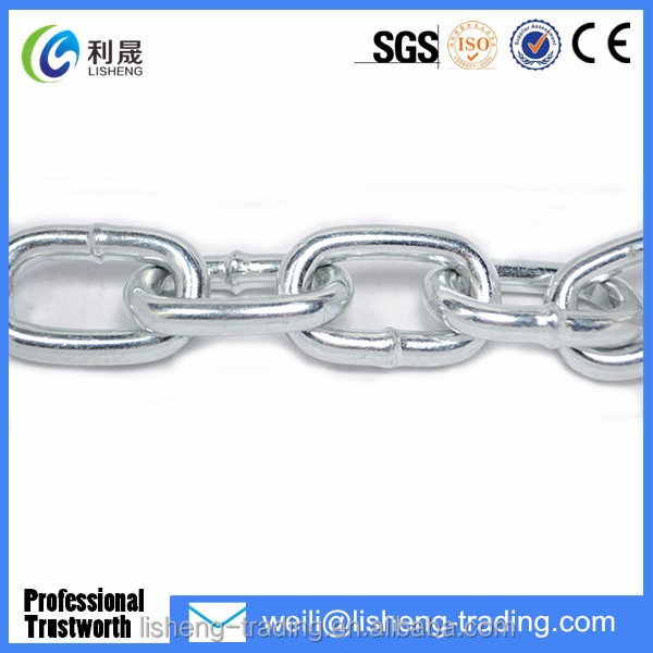 China Factory Ordinary Welded Mild Steel Medium Protection Link Chain