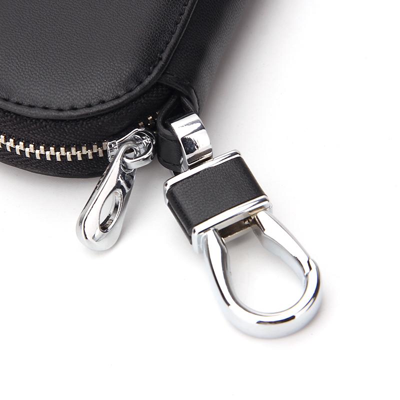 Оптовая продажа молния вокруг ключа Держатель кошелек компактный кожаный чехол для ключей
