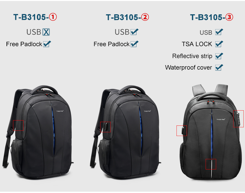 2019 Tigernu New TSA Anti theft fashion laptop backpack for business and outdoor  waterproof backpack
