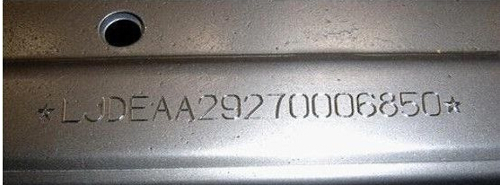Auto Serial Number Engraving Machine For Chassis Number ...