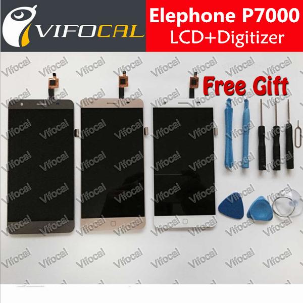 Elephone P7000 жк-дисплей + сенсорный экран + инструменты 100% первоначально дигитайзер ассамблеи аксессуары для телефона + бесплатная доставка