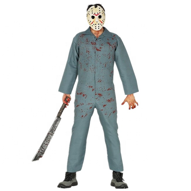 Adult Men S Jason Costume Scary Halloween Fancy Dress Outfit Sa2750 Buy Costume Jason Costume Halloween Costume Product On Alibaba Com