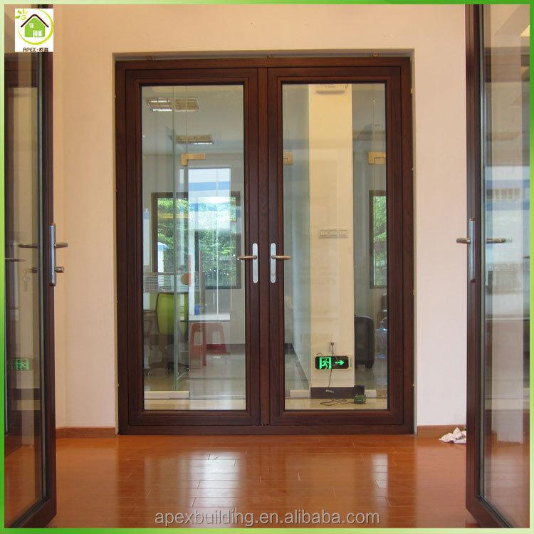 En aluminium tremp verre double balan oire d 39 int rieur for Porte double en verre interieur