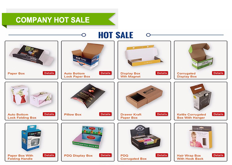 Custom corrugated shoes packaging shipping paper box
