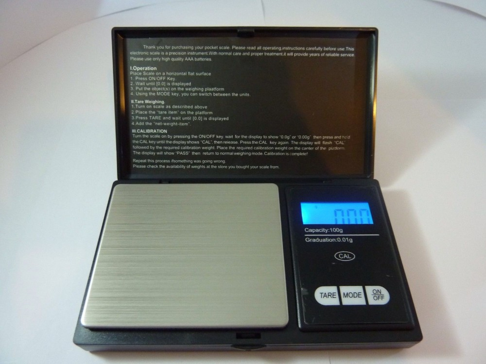 NEW WEIGHING MINI POCKET DIGITAL <strong>SCALES</strong> 0.1G ACCURACY-500G CAPACITY