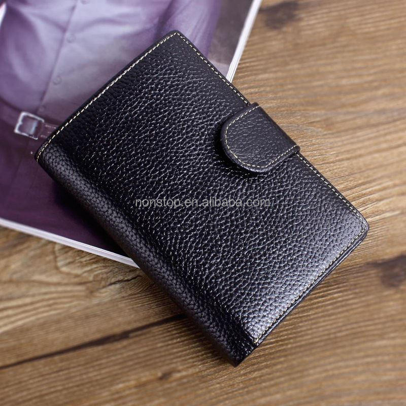 2016 new men in Europe and America a short section of leather cowhide wallet vertical section tide Korean business man bag walle
