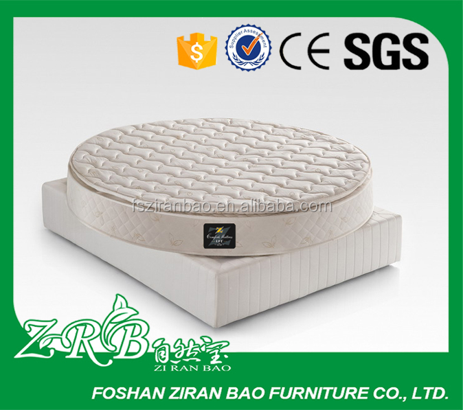 Coustomized pillow top round bed mattress for sale-ZRB 292