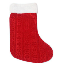 Red Color Decorations christmas Stocking For Sweety Candy