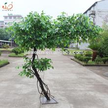 2018 New plastic ficus leaves home decorative wholesale artificial banyan trees for sale