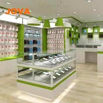 62eb522bc97a Простой мобильный Электрический магазин витрина сотовый телефон аксессуары  дизайн магазина