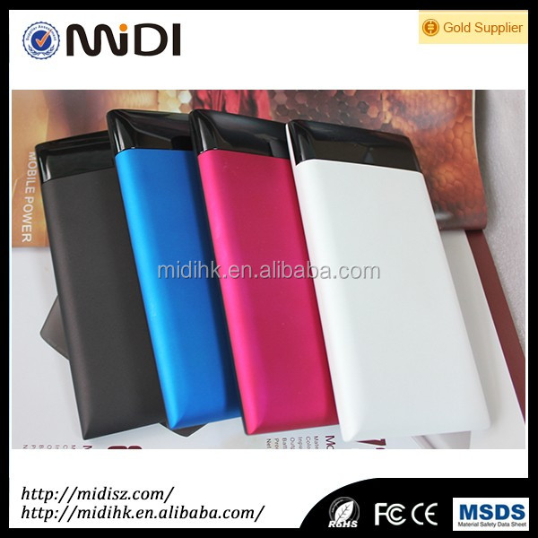 2017 new exclusive model High Capacity with10000mAH power bank ABS+ rubber finished mobile power bank
