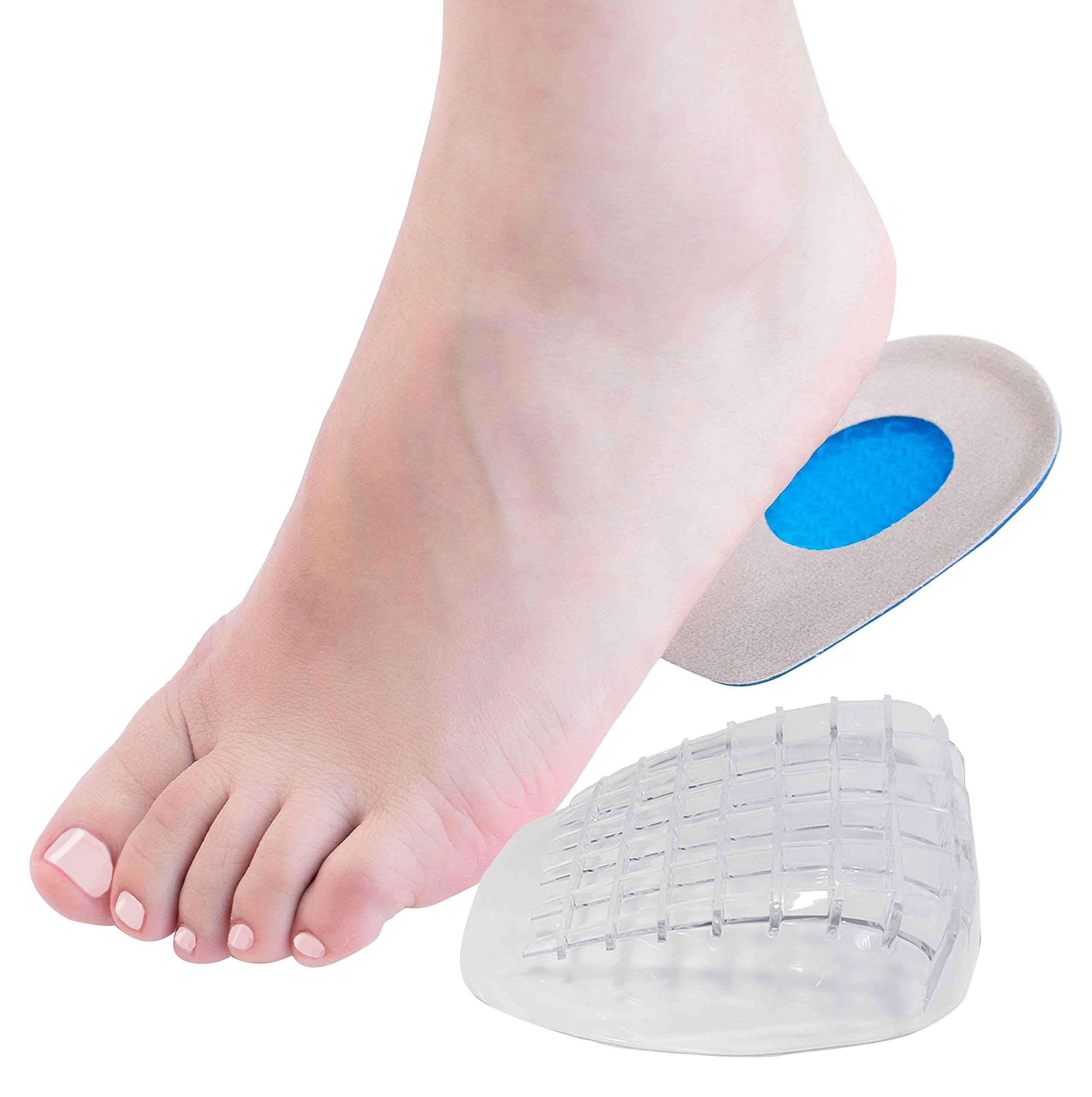 Reasonable Footful Heel Support Pad Gel Silicone Cushion Shock Orthotic Insole Female Novelty & Special Use