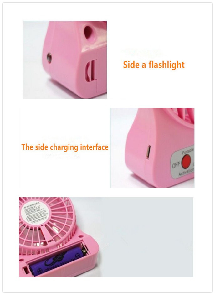 Colorful mini portable fan , Fasion portable rechargeable fan ,young people 's favorite fan