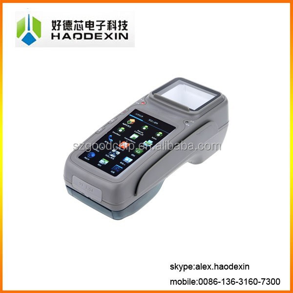 Touch android pos terminal with receipt thermal printer ticket bus billing machine 2D barcode scanner NFC GC028+