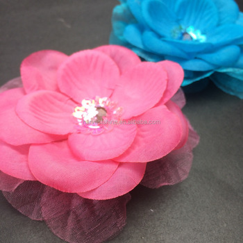 Simple Fabric Layered Petal Flowerartificial Lotus Flower