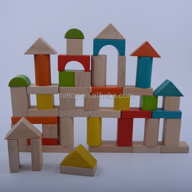 Safety 50pcs kids building block wooden toy
