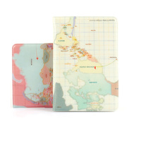 world map passport sleeve with cute printing pvc case