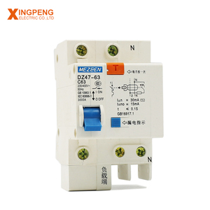 Electrical control switch DZ47LE rcbo 1p+n 63a working principle of air circuit breaker
