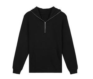 men jackets winter sweatshirt xxxxl black blank full face zip haevy fleece hoodies