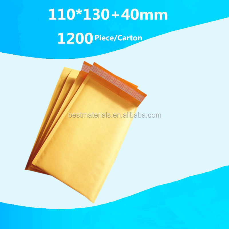 Custom Logo Padded Kraft Envelope / Jiffy Bag/Gold Kraft Bubble Mailers with high quality