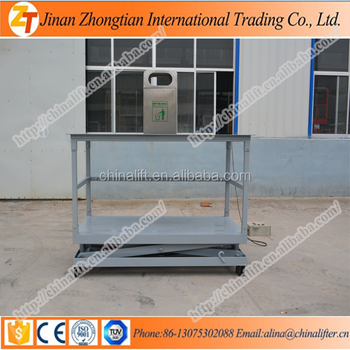 Special Customized Inground Used Trash Can Garbage Bin With Scissor Lift  Table