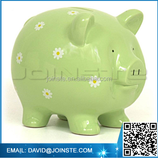 Antique ceramic tall piggy banks