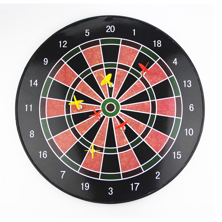 Plastic Magnetic Dart Board Set with 6 Darts Great for Kids