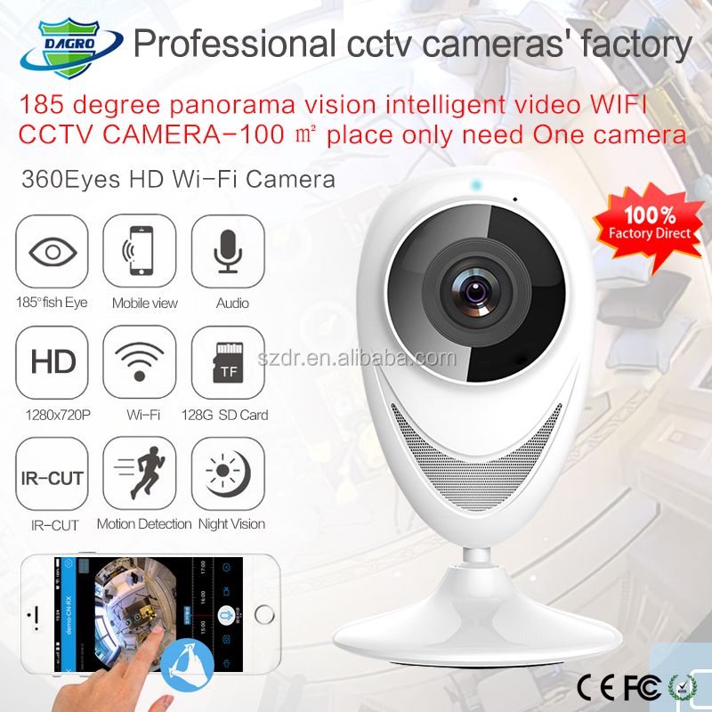 180 Cloud <strong>Camera</strong> wifi Globe Panoramic 360eyes 720P 185 fisheye night vision wifi <strong>camera</strong>