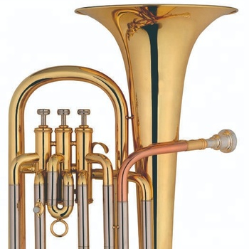 Marching Baritone for Sales. Professional Brass Bb key Marching Baritone. 3 Pistons Gold Lacquer Euphonium