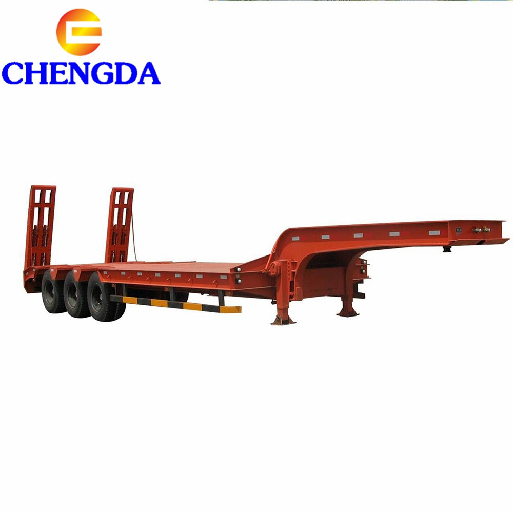 Factory price lowbed semi trailers for towing cars axle trailer in Mozambique width 2.6m