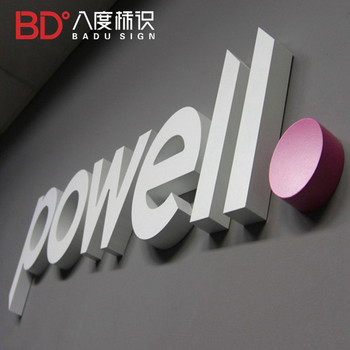 New design custom led sign board 3d letter plates brand metal logos for company building