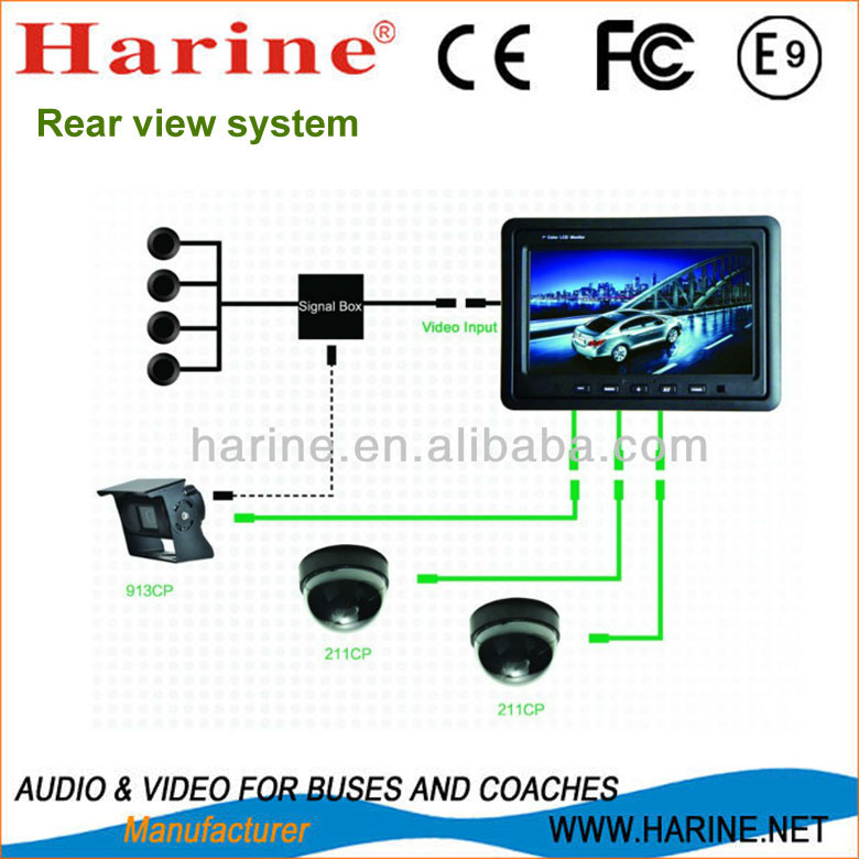 7 inch monitor with ir digital CCD cameras surveillance systems reviews