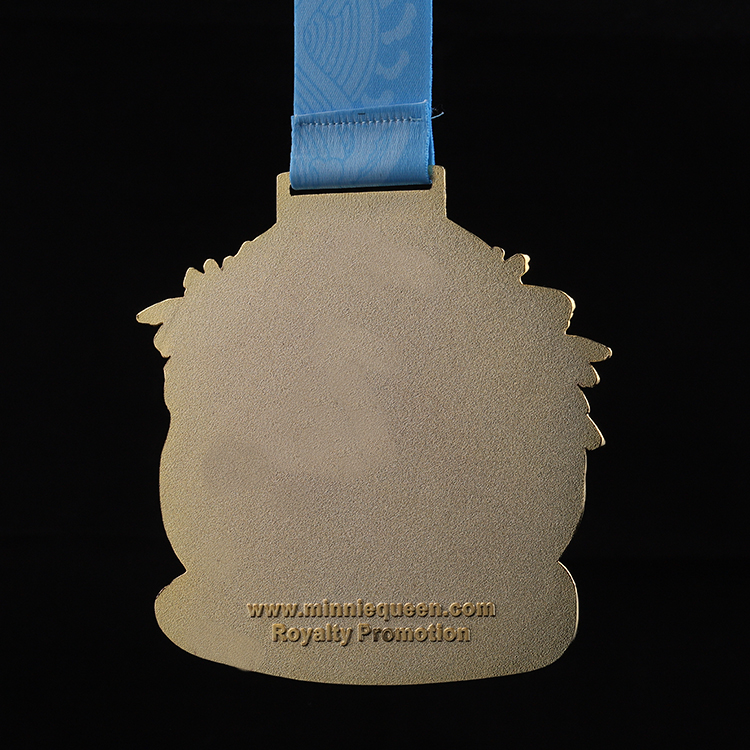 Shuanghua custom metal enamel gold material arts sports award medal with ribbon