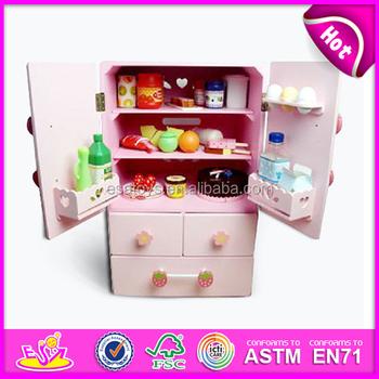 2015 Neue Holz Vorgeben Spielzeug Kühlschrank Spielzeug Für Kinder ...