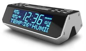 7d7c922692a Digital AM FM Rádio Relógio LCD com display de texto de rolagem RDS Rádio  Relógio