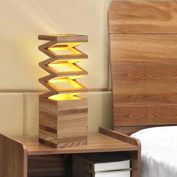 nordic holz schlafzimmer nachttischlampe pers nlichkeit moderne holz schreibtisch studie. Black Bedroom Furniture Sets. Home Design Ideas