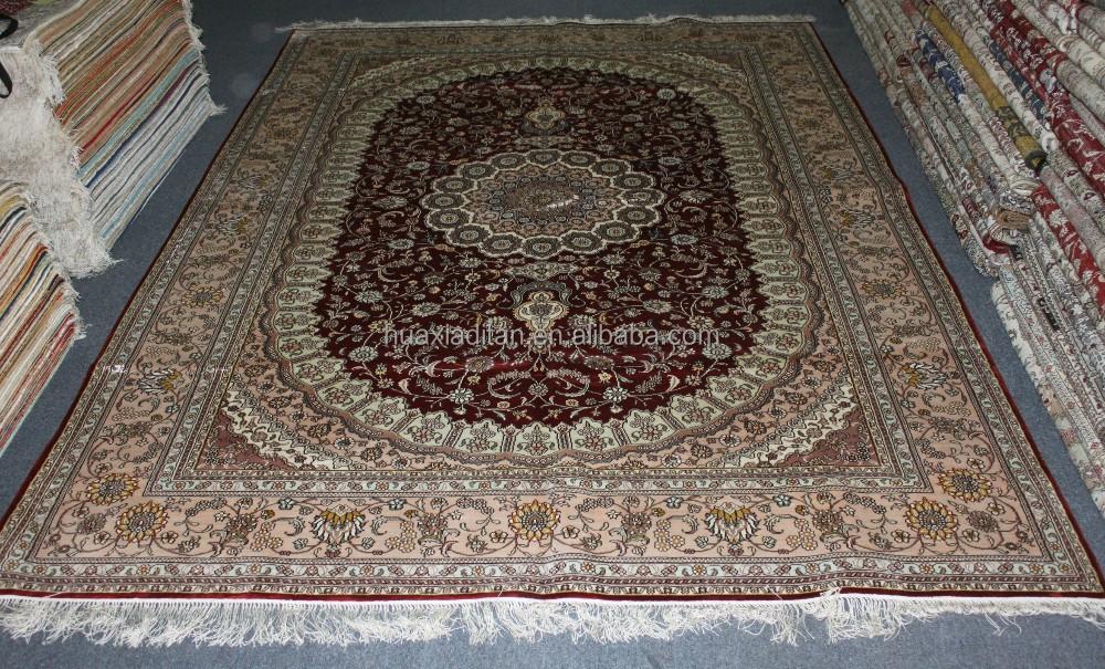 Iran Qom Qum Ghome Persian Silk Rug