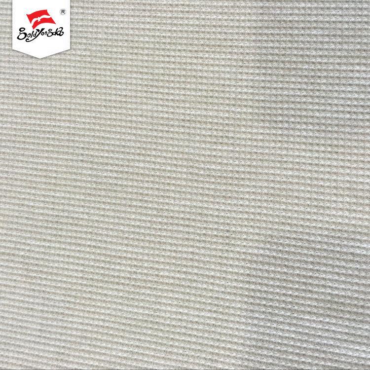 OEM serive plain dyed rib white plain dyed rayon spandex waffle fabric