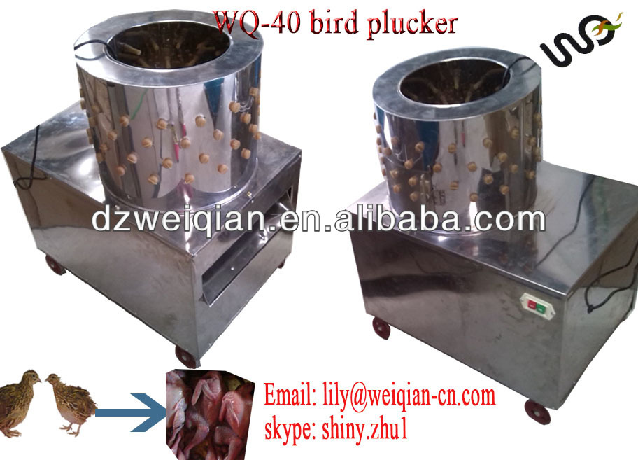 WQ-40 poultry feather plucker machine