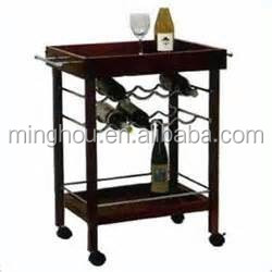 Portable hotel usage wine serving cart