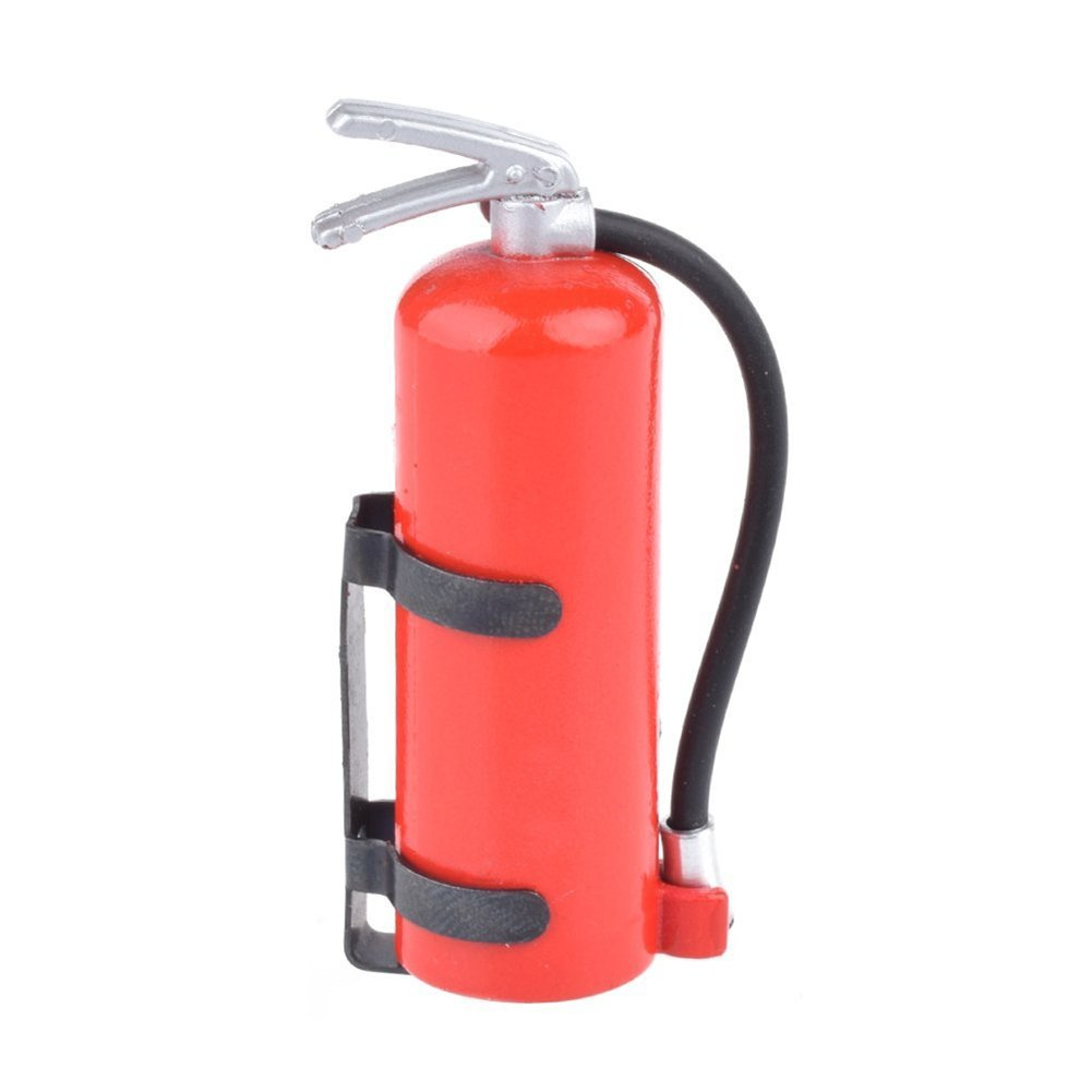 TOOGOO(R) 1/10 Scale Fire Extinguisher RC Rock Crawler Accessory for AMIYA CC01 RC4WD D90 D110 RC Truck Car Parts