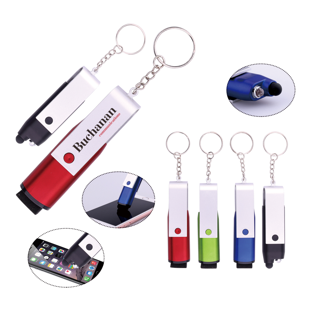 Alibaba China Newly Design U Pen Fashion U-Type Disk With Screen Cleaner LED Light Touching Pen