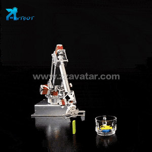 Portable robotic arm arduino robot with vacuum suction cup vending machine